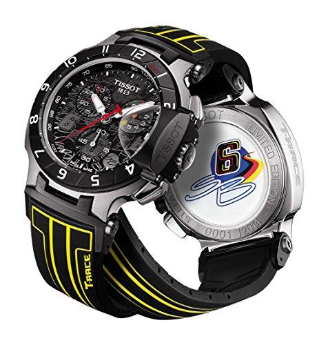 Tissot T-Race Chrono Black Dial SS Rubber Quartz Men's Wa...