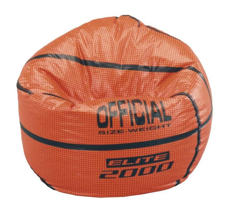 Sports Theme Vinyl Bean Bag - Basketball