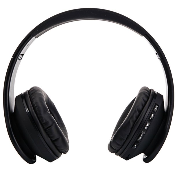 Bluetooth Headphones Over Ear Hi Fi Stereo Wireless Headset Foldable Fm Stereo Mp3 Player Wired Bluetooth Earphones W Built In Mic For Online Class Home Office Pc Cell Phones Tv Black Walmart Com Walmart Com