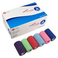 """Sensi-Wrap Self-Adherent Bandage Rolls, Assorted Rainbow Colors, 4"""" by 5 yards, Case of 18"""