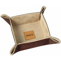 Personalized Leather Valet Catchall