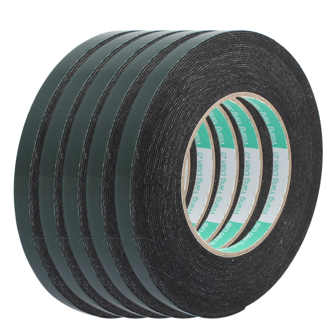 5 Pcs 10M Length 10mm x 1mm Dual-side Self Adhesive Shockproof Sponge Foam Tape