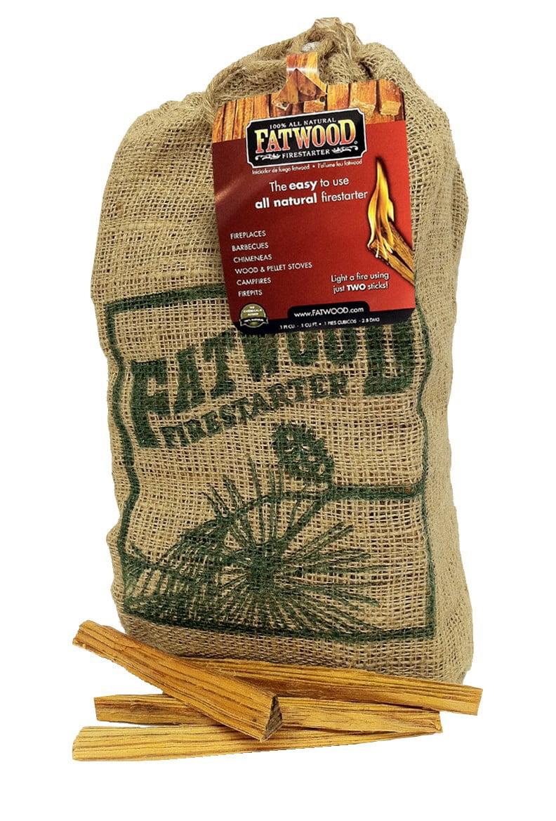 Fatwood Firestarter Fatwood Burlap Bag, 8 Lb. by WOOD PRODUCTS INTERNATIONAL