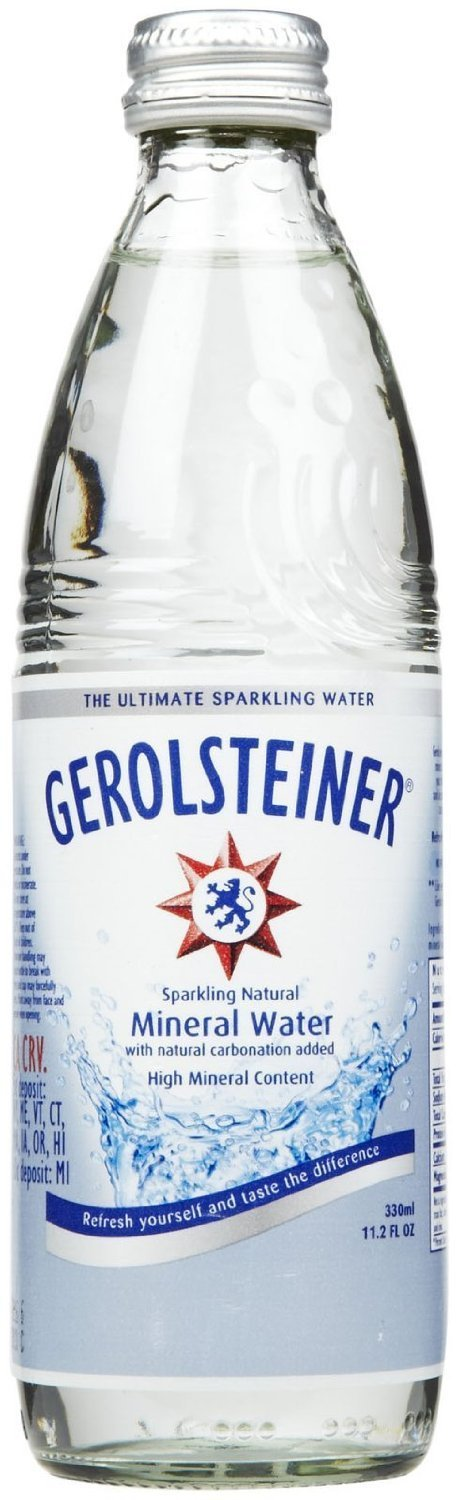 Gerolsteiner Mineral Water 11.2fl oz. Pack of 12. Includes Our Exclusive HolanDeli... by