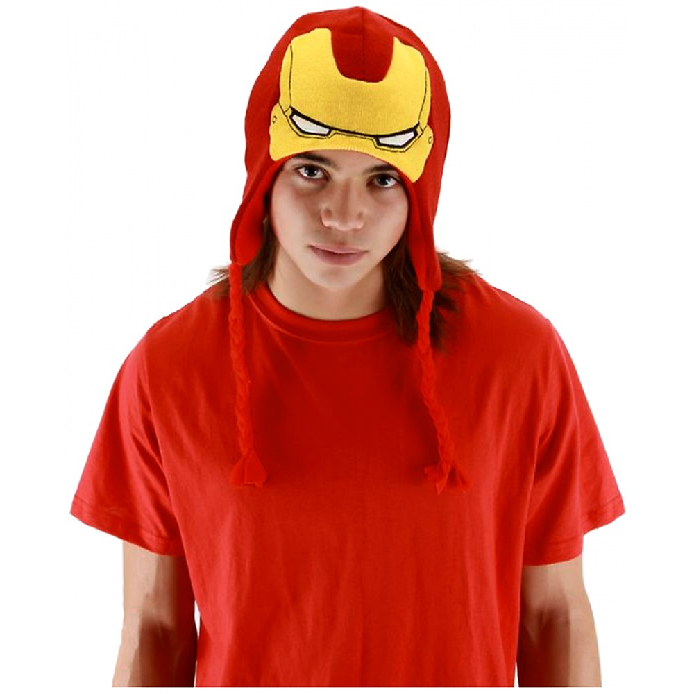 Iron Man Knit Laplander Adult Costume Accessory