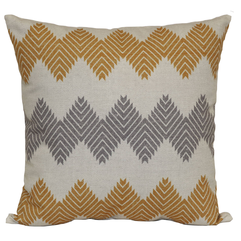 Mainstays Aztec Chevron Decorative Throw Pillow, Clay Brick