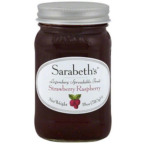 Sarabeth's Strawberry Raspberry Spreadable Fruit, 18 oz (Pack of 6)
