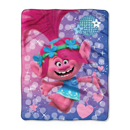 "Trolls, ""Bright Star"" Silk Touch Throw Blanket, 40""x50"""
