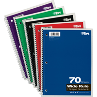 3-Hole Punched Perforated Theme Book - Quantity of 24 - PT -  TOP-65000