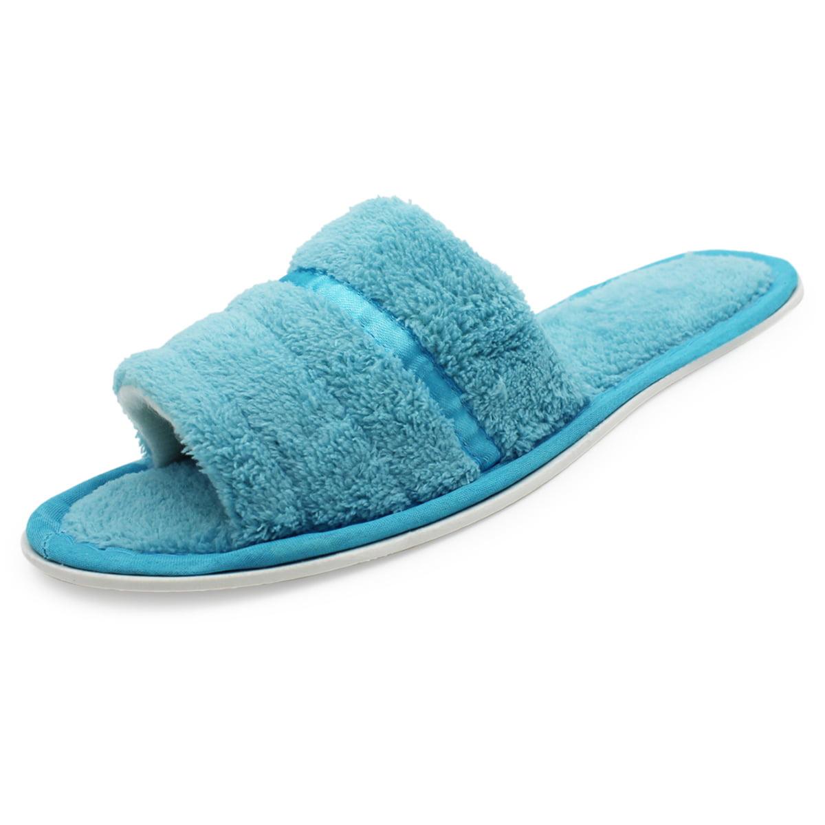 womens open toe bedroom slippers