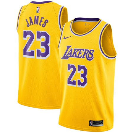 LeBron James Los Angeles Lakers Nike 2018/19 Swingman Jersey Gold - Icon Edition Nike Stretch Jersey
