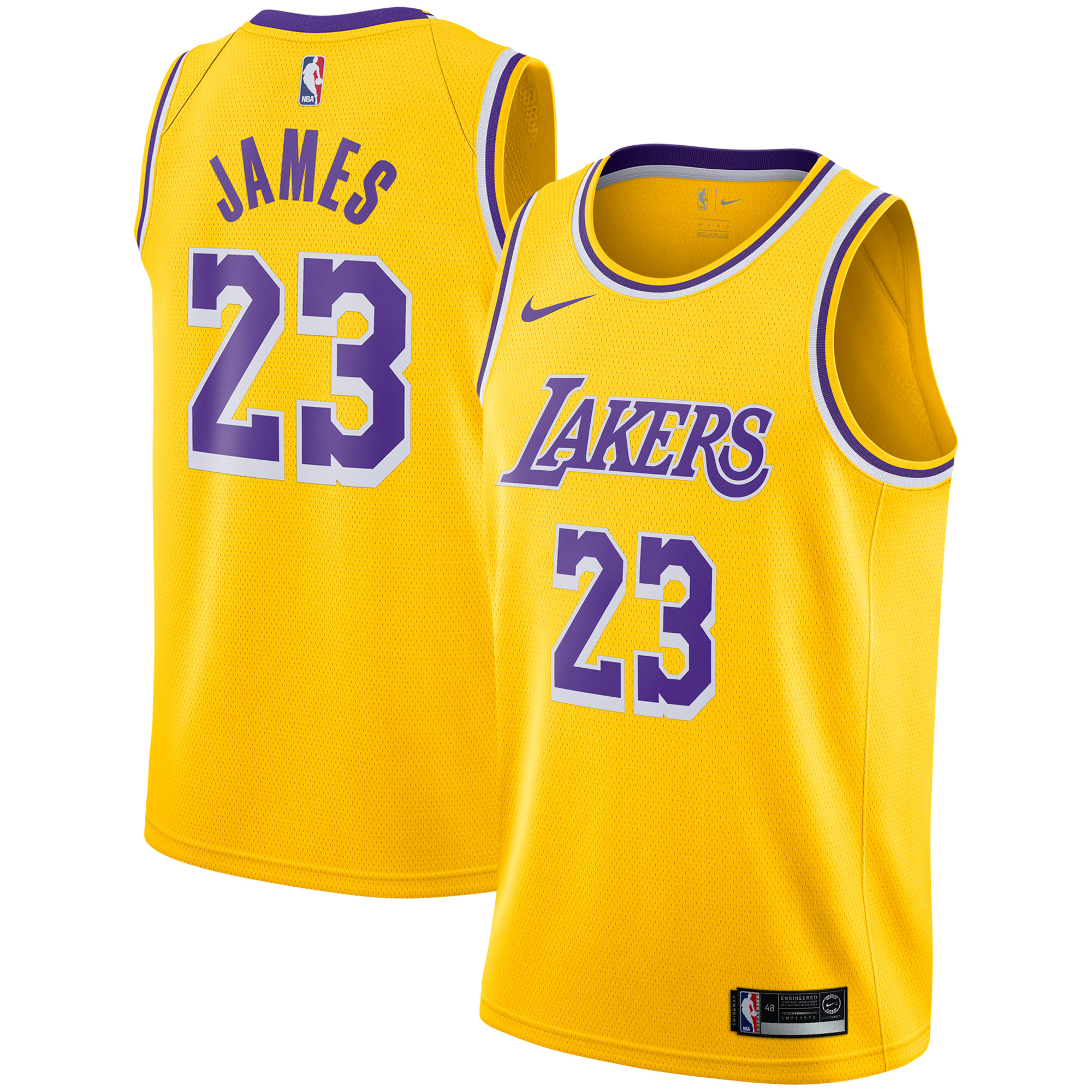 the latest b041b a36b3 LeBron James Los Angeles Lakers Nike 2018/19 Swingman Jersey Gold - Icon  Edition