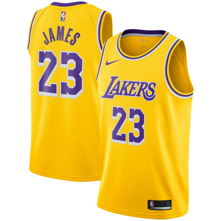 Green Swingman Basketball Jersey (LeBron James Los Angeles Lakers Nike 2018/19 Swingman Jersey Gold - Icon)