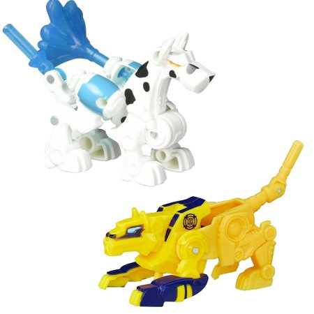 Playskool Transformers Rescue Bots 2PK Fireplug Swift Cheetah-Bot Figures Hasbro B4958/B4954](Rescue Bot)