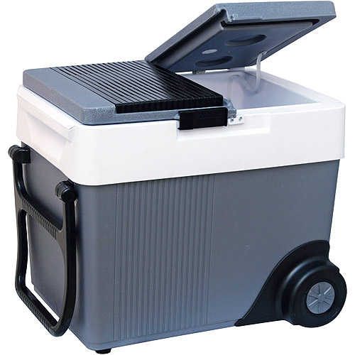 Koolatron RV / Car 12 Volt Wheeled Cooler, W65 Kool Wheeler Thermoelectric Portable Travel Cooler, 33 quart 42-can capacity