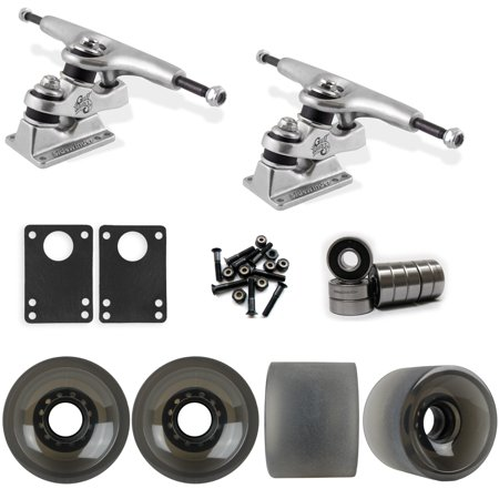 Gullwing Sidewinder Longboard Trucks Wheels Pack 70mm Sliding Wheels Black