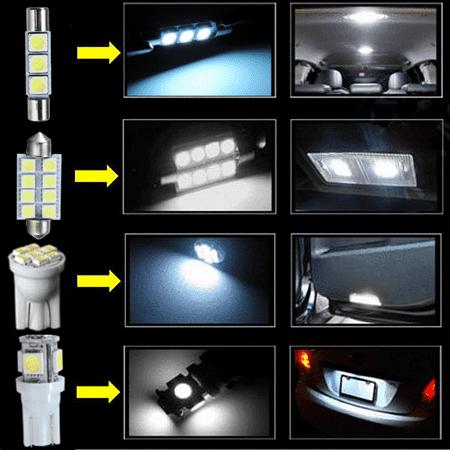 15pcs T10 W5W 31/42MM Festoon Dome Car Light LED Interior Package Light Bulb DC 12V For 07-13 Chevy Silverado - image 2 of 8