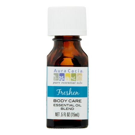 Aura Cacia Body Care Essential Oil Blend, Freshen, 0.5 Fl -