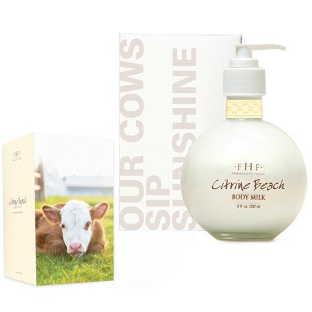 FarmHouse Fresh Citrine Beach Body Milk - Pump Top (8 (Body Farm)