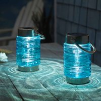 Solar Wave Lantern 2-Pack - Blue