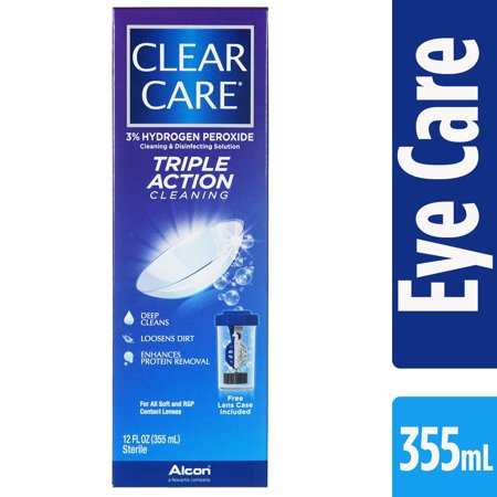 Clear Care Contact Lens Cleaning and Disinfecting Solution (Walking Dead Contact Lenses)