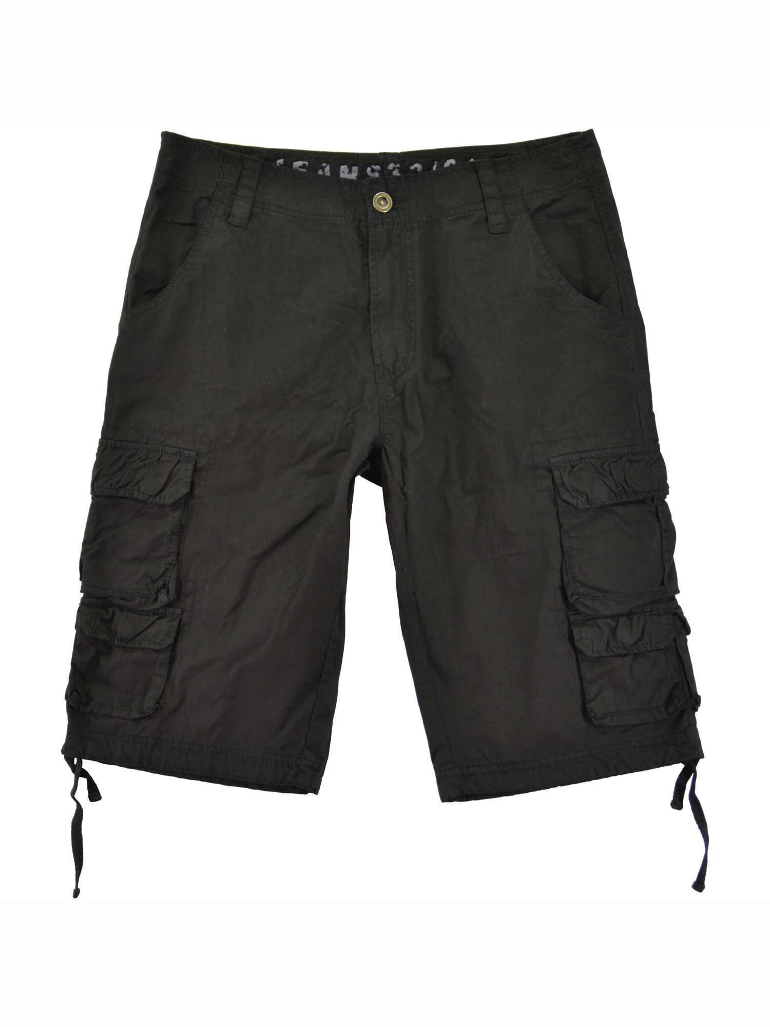 Mens Military Cargo Shorts 818s-Black Size 30-42