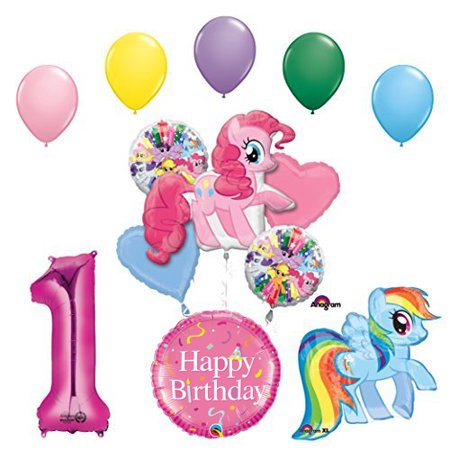 My Little Pony Pinkie Pie And Rainbow Dash 1st Birthday Party Supplies Balloon Decorations
