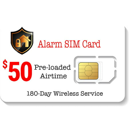 $50 Prepaid Alarm SIM Card for GSM Home Security Alarm System 180 Day (Best Prepaid Service In Canada)