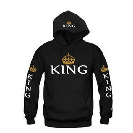 - Valentine´s Day King and Queen Matching Couple Sweatshirts Hoodie Lovers Matching His and Her shirts