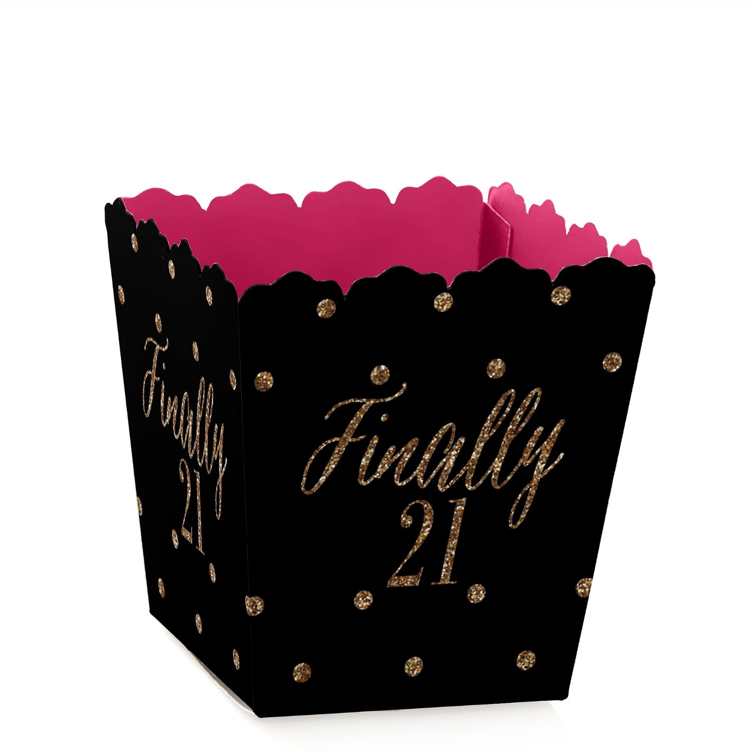 Finally 21 Girl - 21st Birthday - Candy Boxes Party Favors (Set of 12)