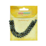 Protection Snowflake Obsidian (Expo Int'l Snowflake Obsidian Beads Pack of 36)
