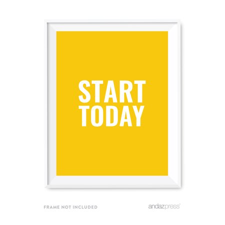 Start Today Motivational Wall Art  Inspirational Quotes For Home Office