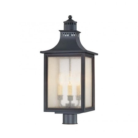 Pemberly Row Post Lantern in - Slate Post Accessories