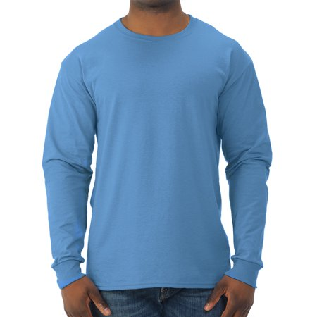 Pima Crewneck Tee - Men's Dri-Power Long Sleeve Crewneck T Shirt
