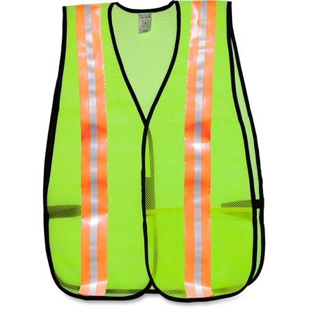 MCR Safety, MCS81008, Mesh General Purpose Safety Vest, 1 Each, Lime (Expandable Lime Safety Vest)