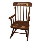 Child's Pirate Spindle Rocking Chair-Espresso