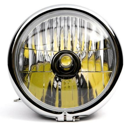 "Krator 6"" Black w/ Chrome Ring LED Motorcycle Headlight Side Mount Running Light Hi/Lo for Kawasaki ZR Zephyr 550 750 - image 3 de 6"
