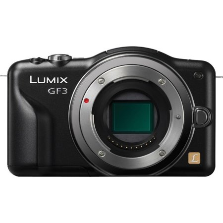 Panasonic Lumix DMC-GF3 12 MP Micro 4/3 Mirrorless Digital Camera with 3-Inch Touch-Screen LCD Body Only (Black) (3 Inch Lcd Panasonic Lumix)