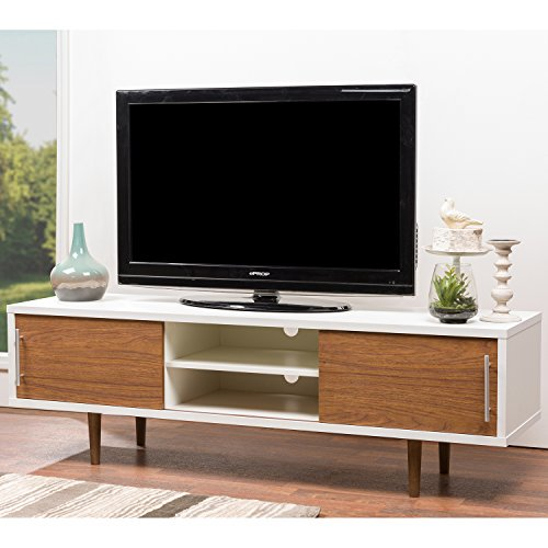 Modern Wood White And Brown Tv Stand