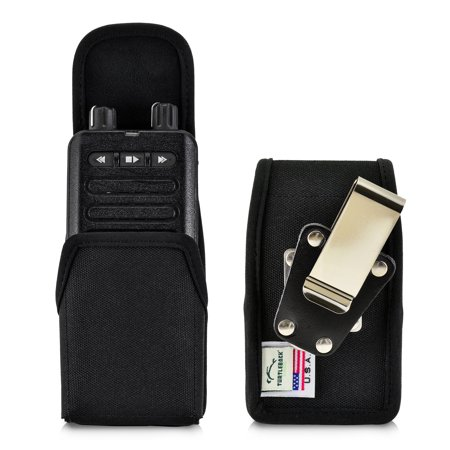 Turtleback Case made for Motorola Minitor VI (6) Voice Pager Fire Radio Phone Black Nylon Holster Case with Heavy Duty Rotating Removable Clip Black Nylon Pouch, Magnetic Closure Flap