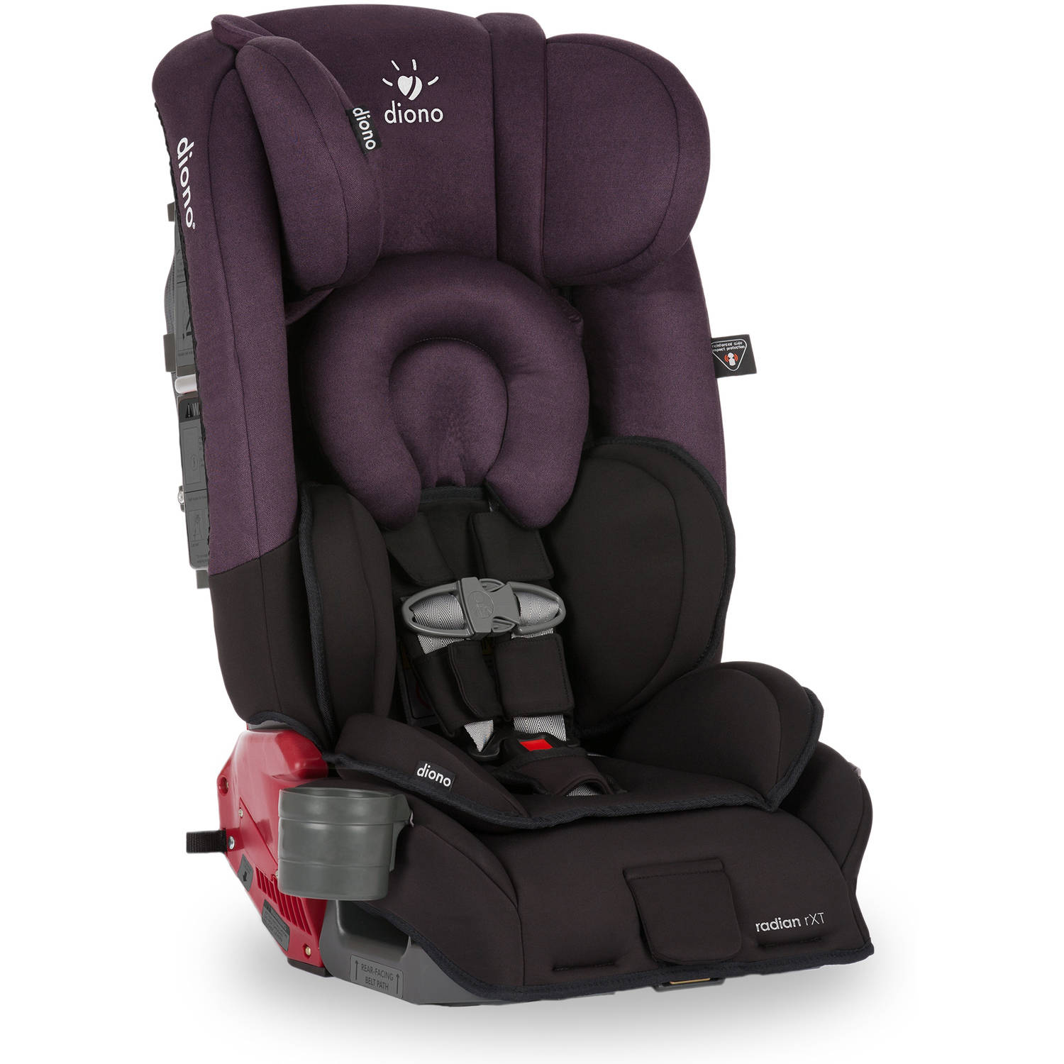 Diono Radian rXT Convertible car Seat and Booster, Black Plum