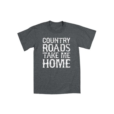 Country Roads Take Me Home Cowboy Bluegrass Retro Music Novelty Mens T-Shirt ()