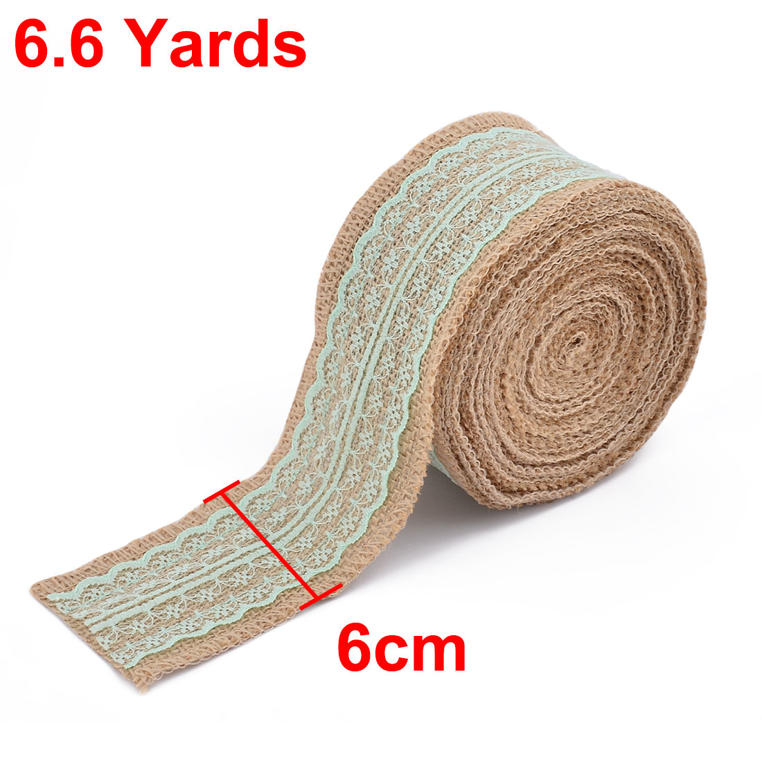 Wedding Holiday Decor Burlap Strap Crafting Ribbon Roll 6