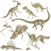 Directer Funny 3D Simulation Dinosaur Skeleton Puzzle DIY Wooden Educational Toy for Kids