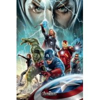 "1 X The Avengers - Movie Poster (Power) (Iron Man, Captain America, Thor, Hulk, Hawk, Black Widow & Loki) (Size: 24"" x 36"") By POSTER STOP ONLINE,USA"