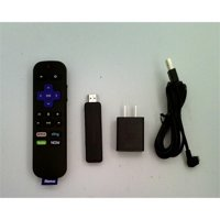 Refurbished Roku Streaming Stick | Portable, power-packed player with voice remote with TV power and volume