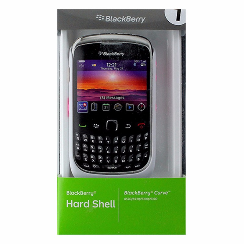 BlackBerry Hard Shell Case for BlackBerry Curve 8520 / 9330 - White / Pink