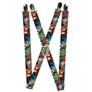 Buckle Down Kids' Elastic DC Justice League Superhero Clip End Suspenders