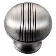 Strategic Brands 12521 1.25 in. Satin Antique Chrome Striped Knob
