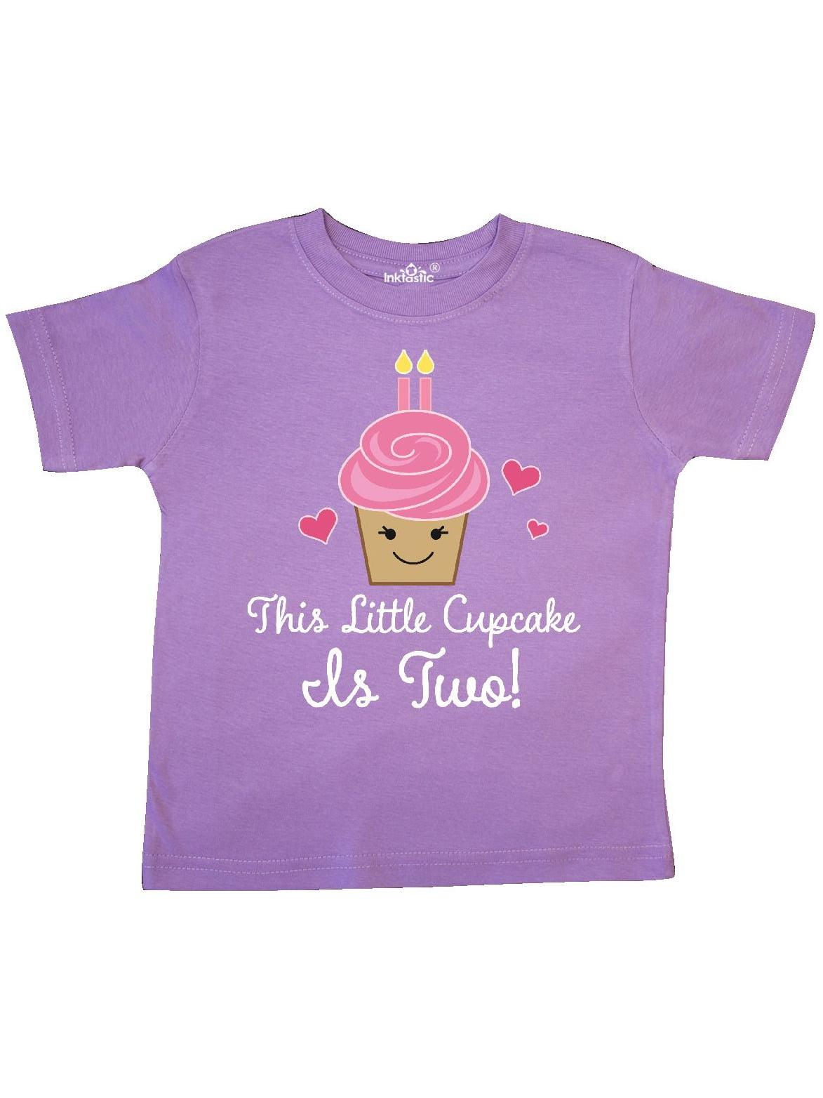 2nd Birthday Cupcake Girls Cute Toddler T-Shirt
